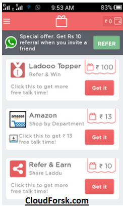 Download And Install Ladoo app 2017online Get Unlimited Free Recharge