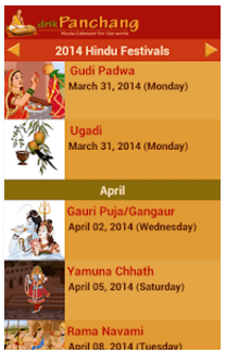 Hindu Calendar - Drik Panchang App Download Today