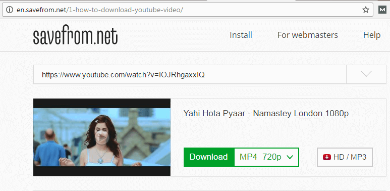 How To Download YouTube Videos Directly Using En.Savefrom.Ne Website